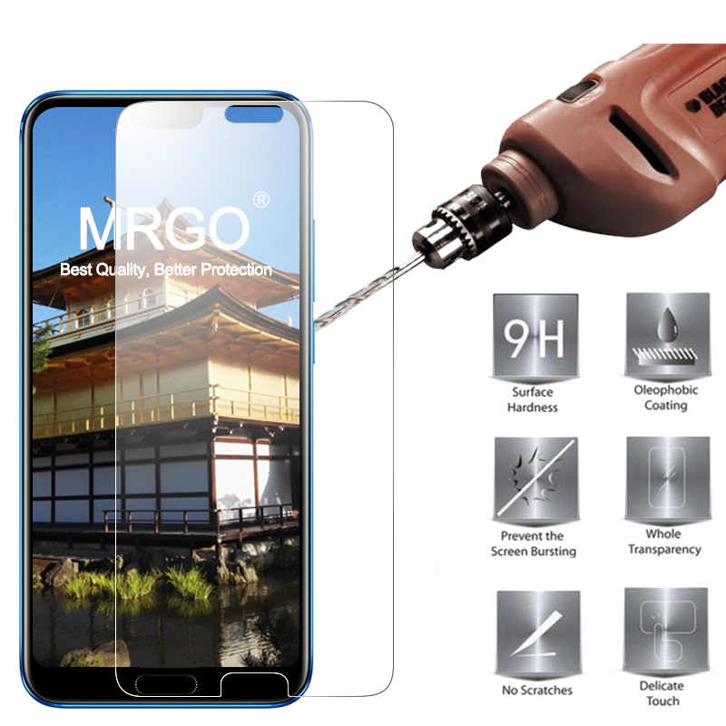 MRGO Tempered Glass For Huawei Honor 10 Screen Protector 9H 2.5D Phone On Protective Glass For Huawei Honor 10 Glass