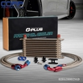 Gold GPLUS Oil Cooler Kit For BMW E36/E46 M3 135/E90 335/640/740 X1/Z4 Turbo AN10