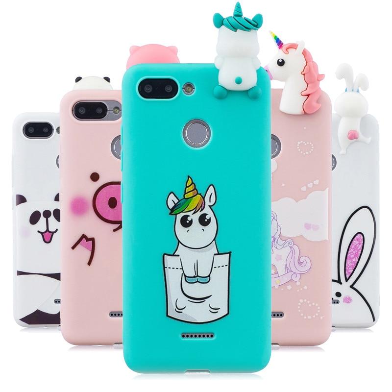 a0a9ee809dc Redmi 6 Silicone Phone Case For Coque xiaomi Redmi 6 Case Cover for Fundas  xiaomi Redmi 6A 6 A 3D Cartoon Doll Toys Unicorn Case
