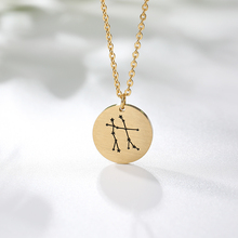 12 Constellations Necklaces Pendents Collier BFF Stainless Steel Constellation Necklace Bijoux Jewelry Accessories For Femme