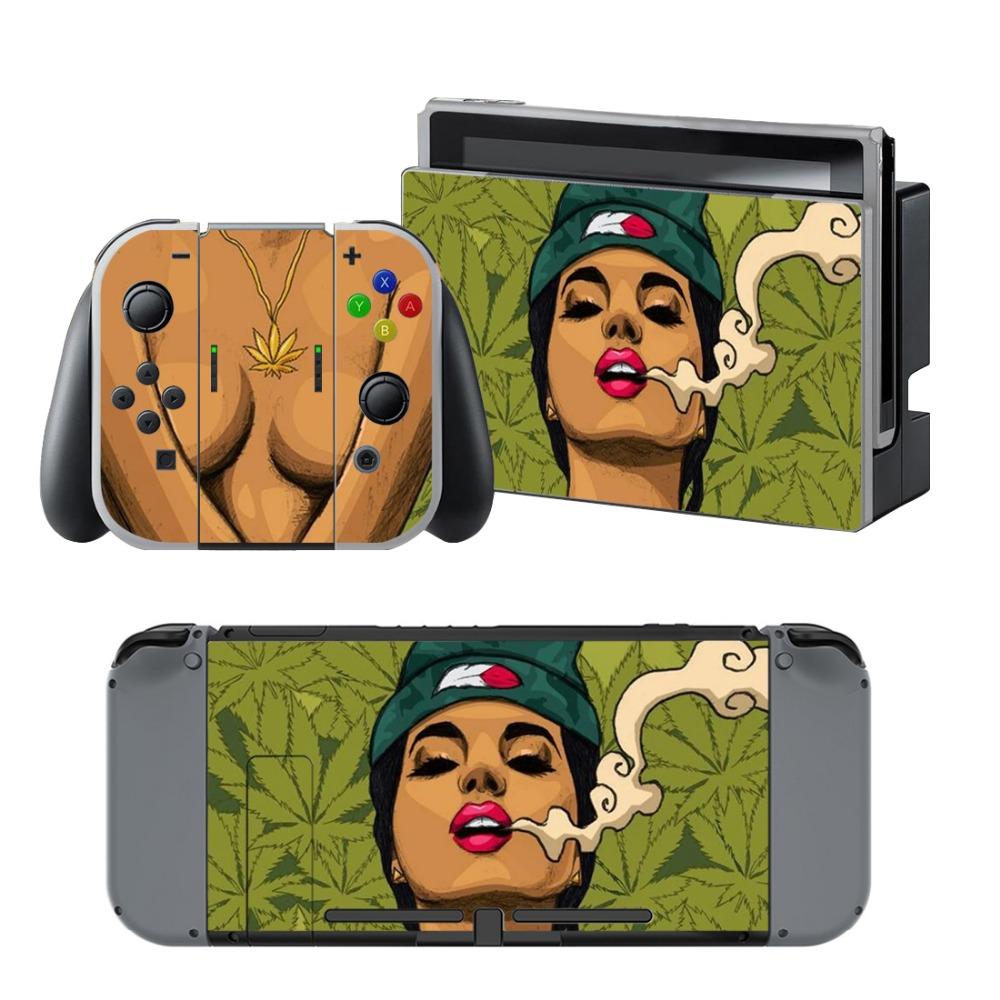 Newly Arrival Vinyl Skin Sticker for Nintendo Switch Console Protector Cover Decal Vinyl Skin for Skins Stickers 0217
