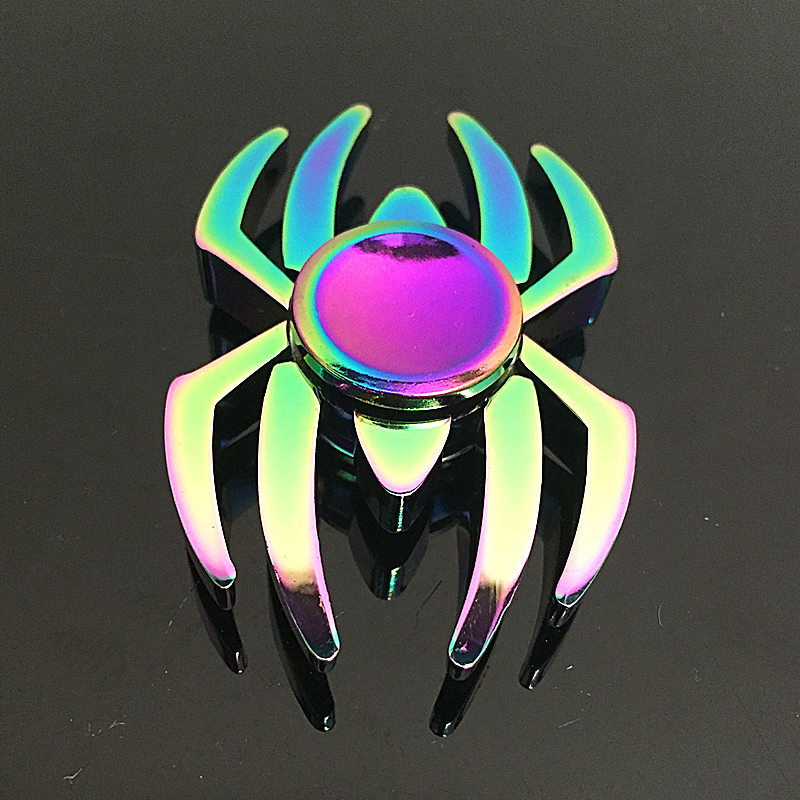 Spider Fidget Spinner Metal Rainbow Dragon Hand Finger Spinners Autism ADHD Focus Anxiety Relief Stress SZJD