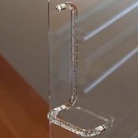 425mm 225mm Modern Fashion Clear Air Bubble Shower Door Handles Stainless Steel Acrylic Bathroom Glass Door