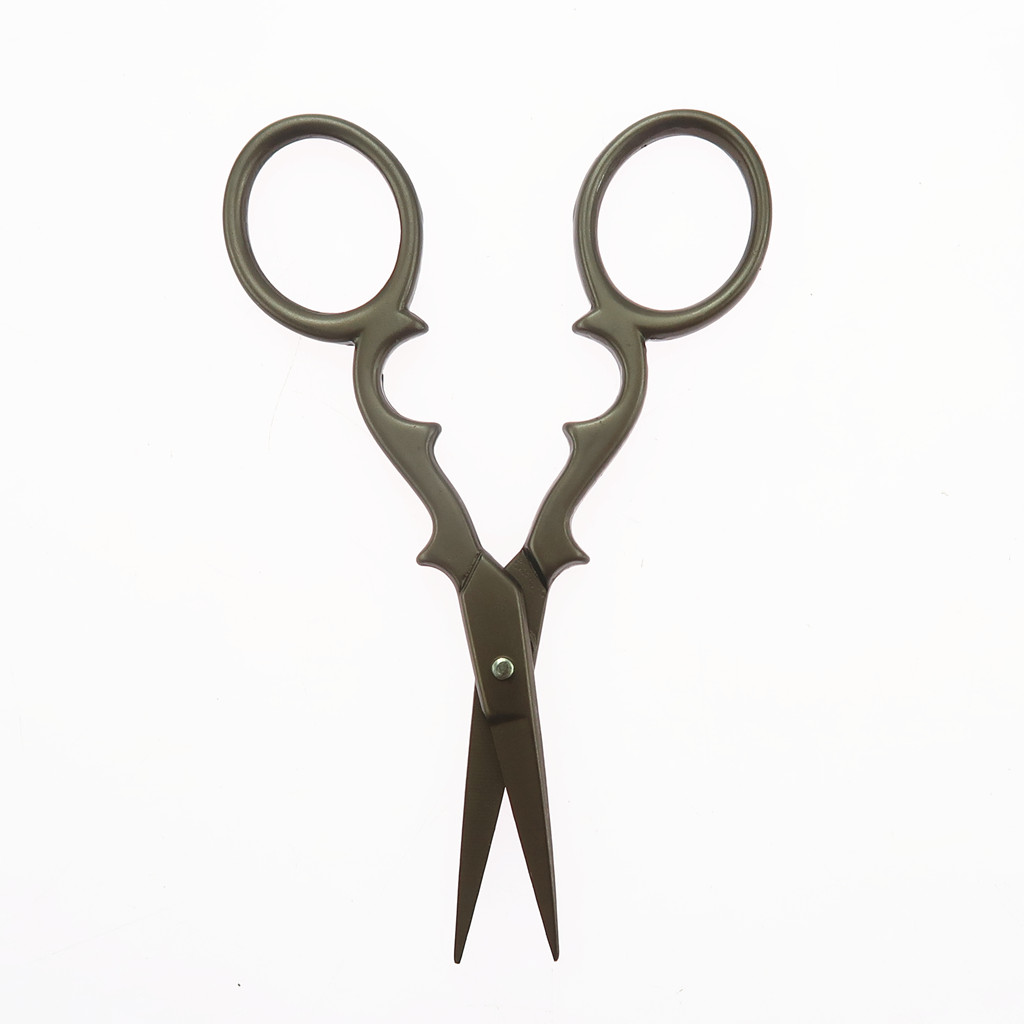 Vintage European Stainless Steel Gourd Scissor for Embroidery Sewing Needlework