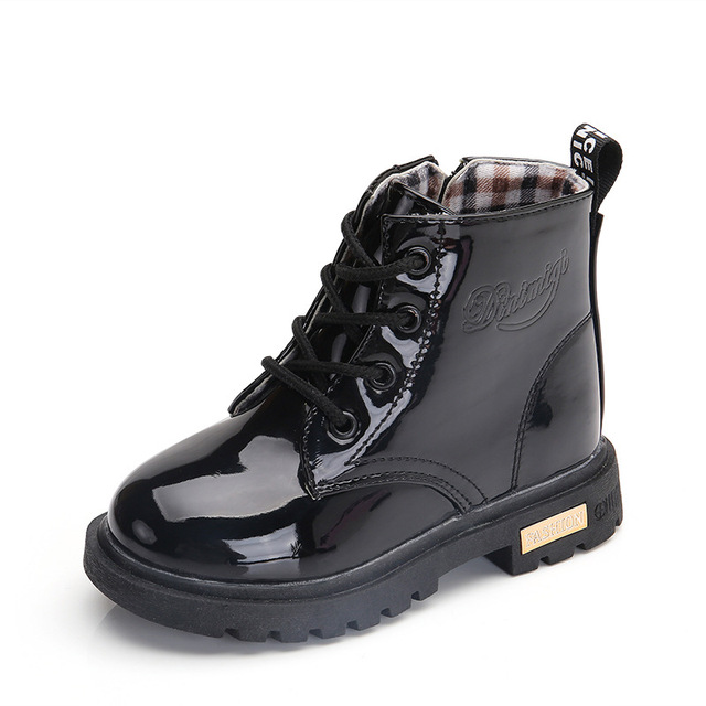 Black toddler boots