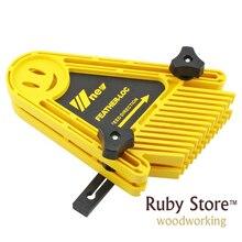 Planche multi usages Double plumes plume Loc pour scies à Table routeur et Tables clôtures outils jauge à onglet fente boiseries bricolage