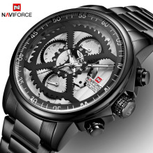 NEW Watches Mens Luxury Brand NAVIFORCE Men Sports Watches Mens Waterproof Full Steel Quartz 24 Hours Watch Relogio Masculino