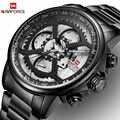 Nouvelles montres hommes de luxe marque NAVIFORCE hommes montres de sport hommes étanche entièrement en acier Quartz 24 heures montre Relogio Masculino
