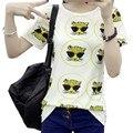 Tiger Allover Imprimir Mujeres Camiseta de Verano 2017 Nueva Casual Manga Corta Cuello Redondo Flojo de Las Mujeres Encabeza Harajuku Hembra de La Camiseta
