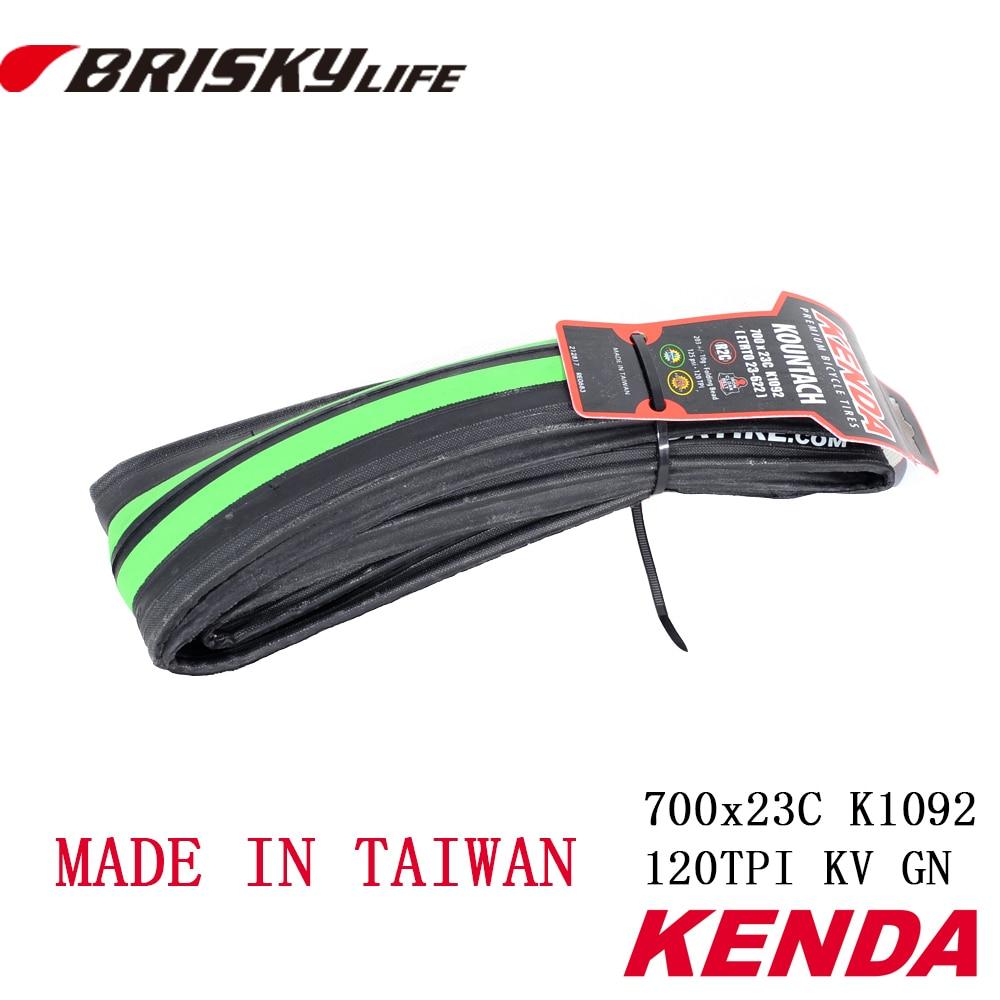 무료 배송 고품질 Kenda 접는 타이어 700x23C 타이어 도로 자전거