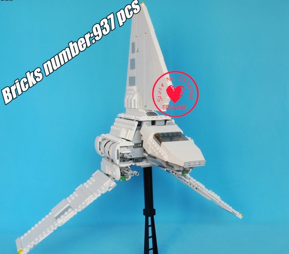 New Star ships Series wars Imperial Shuttle Set Model Building Kit Blocks Bricks Toy Compatible with lego kid gift set new 863pcs lepin 05049 star war series 75156 the imperial shuttle building blocks bricks toys compatible with lego gift kid set