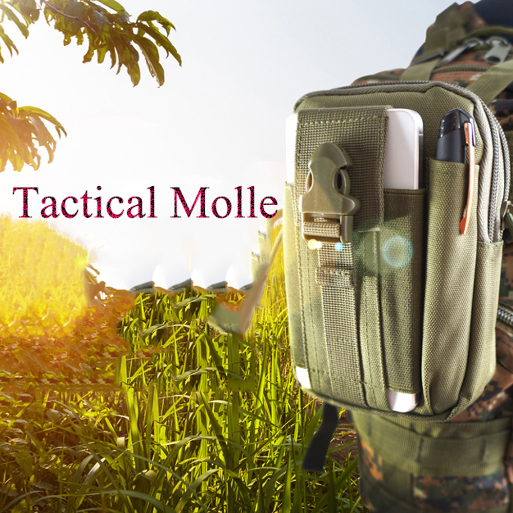 Men Tactical Bag Small Pocket Military Waist Pack Running Pouch Trave Camouflage Waterproof Oxford Soft Back Bag