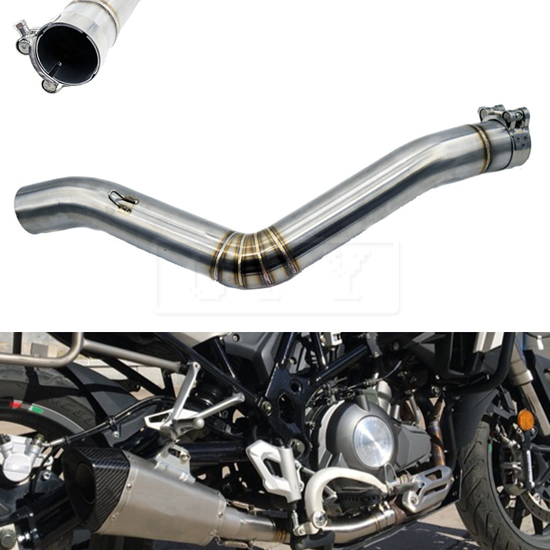 Motorcycle 51mm Exhaust Middle Link Pipe Connection Pipe For Benelli TRK 502 TRK502 All Years Moto Escape Accessory Slip-on 2017