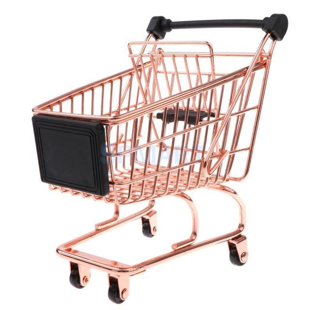 4d1e6e62cf0fc Mini carrito de compras de Metal muestra de vendedor para niños juguete de  juego de simulación