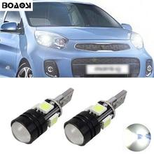 BOAOSI 2x T10 LED 5050 4smd + 1.5W Car LED T10 Canbus W5W No error Wedge Light For Kia sportage rio k2 k3 k5 ceed cerato sorento