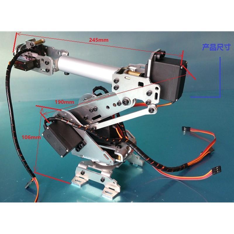 6 DOF CNC aluminum robotic arm (7)