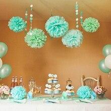5pcs 20cm Multiple Colors Tissue Paper Pom Poms Flower Balls  Wedding Birthday Party Supplies Home Decorations