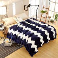 2019 Новое Флисовое одеяло с принтом постельные принадлежности покрывало для дивана плед простыня покрывало темно-синий