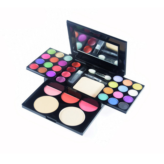 New Pro 33 colors shimmer matte eyeshadow palette naked lip gloss blusher powder brush collection cosmetics Facial makeup beauty