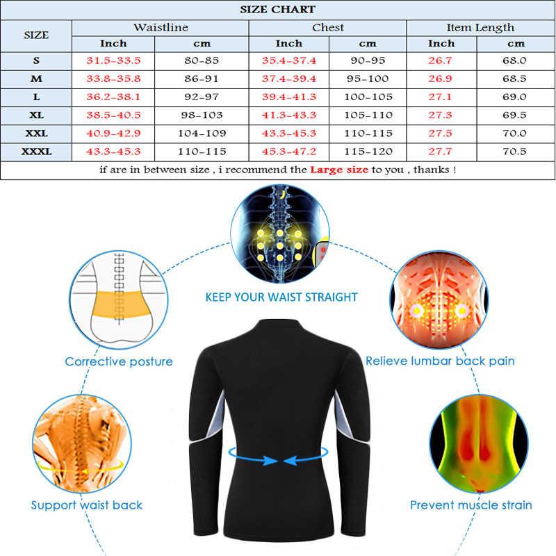 NINGMI 痩身ベルト男性ウエストトレーナーコルセットベストジャケットジッパーホットシャツネオプレンサウナ減量ボディシェイパータンクトップトップス