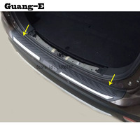 car Stainless Steel outside Rear Bumper tailgate pedal Strip trim plate threshold 1pcs For Mitsubishi Outlander 2016 2017 2018