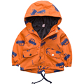 Children's Clothing Coat Autumn spring 2017 Jacket Wind Proof Double Deck Outwear Print Floral Pattern Coat Boy Child Jacket