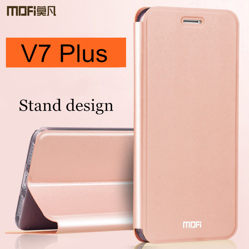 vivo v7 plus case cover vivo y79 flip cover leather back silicone full protect shockproof capas MOFi vivo v7 plus case 5.99 inch