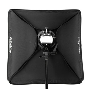 Image 5 - Godox Caja difusora de Flash de 40x40cm, 15x15 pulgadas, soporte tipo Speedlite + S, Kit de montaje Bowens con soporte de luz de 2m para fotografía de cámara