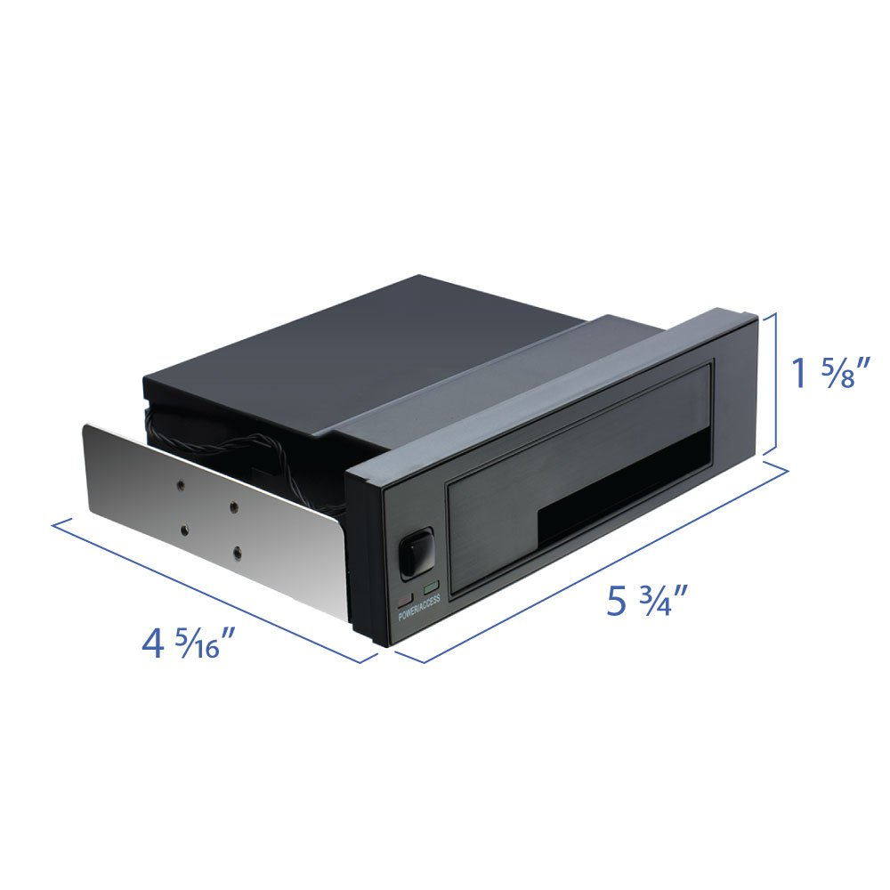 "Hard Drive Enclosure 5.25/"" Trayless Mobile Rack Bracket for 3.5Inch Sata HDD"