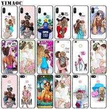 YIMAOC Fashion Brown Hair Baby Mom Girl Queen Soft Silicone Phone Case for Xiaomi Mi 9 8 A2 Lite A1 6 pocophone f1 MAX 3 mi9 mi8
