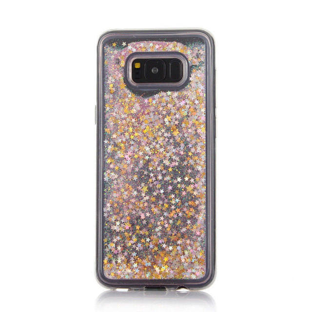 Case For Samsung S8 Plus Clear Cover Glitter Stars Dynamic Liquid Quicksand Soft  Silicon TPU Back skin For Galaxy S8 Case Cover