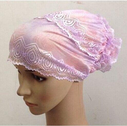 Подшарф кружевная Кепка, внутренняя Кепка, хиджаб кепка. Смешанные цвета быстрая 20 шт 1 лот