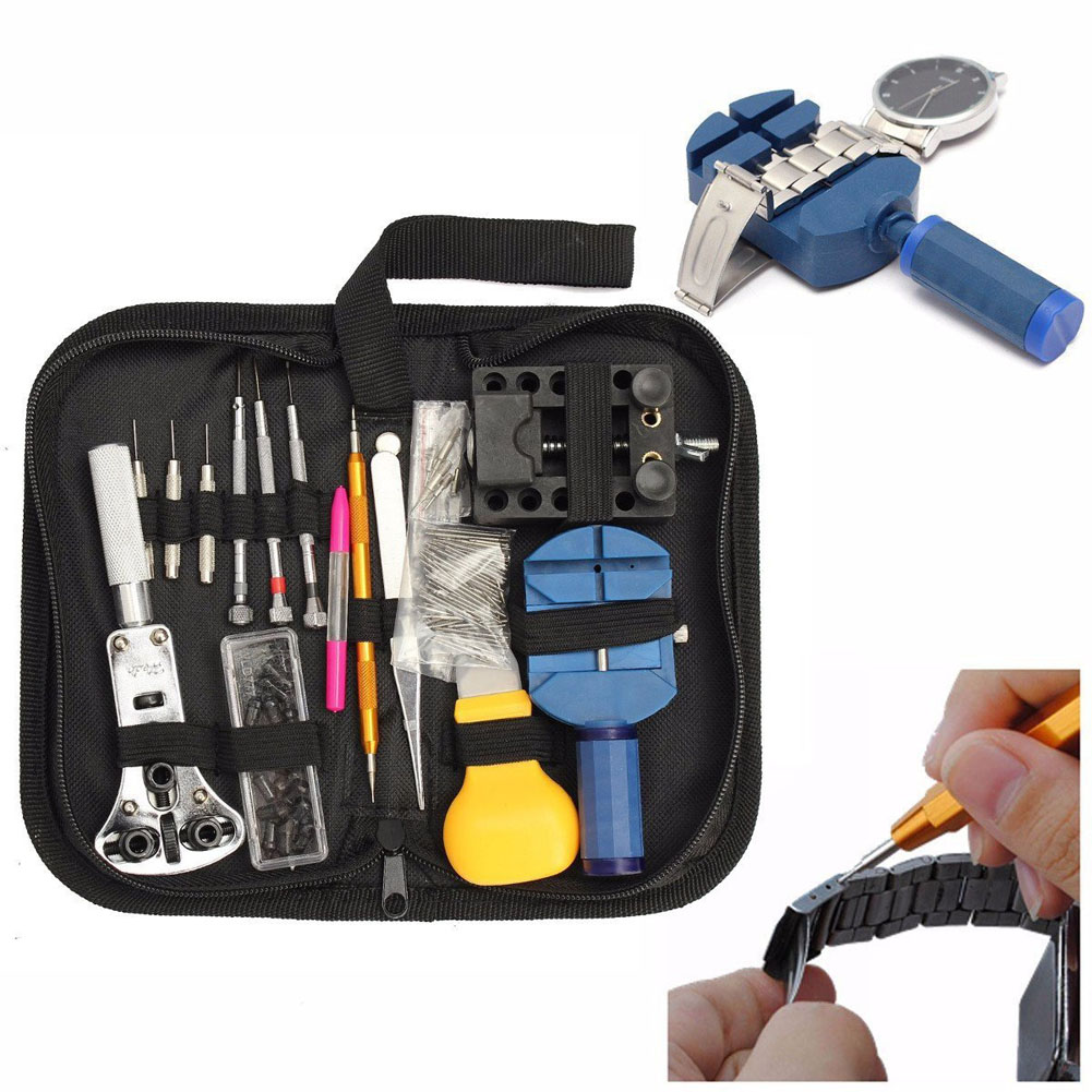цена на 1 Set Watch Case Repair Spudger Pry Opening Tool Kits Screwdriver Set Holder Opener Pin Link Remover Spring Bar
