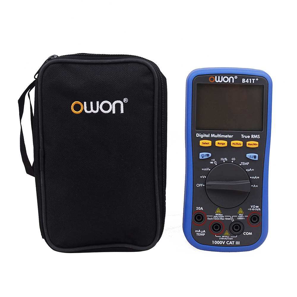 OWON B41T+ 4 1/2 Digital Multimeter With Bluetooth True RMS Backlight Test Meter owon b35t 3 in 1 datalogger true rms multimeter temperature tester recording bluetooth 4 0 android