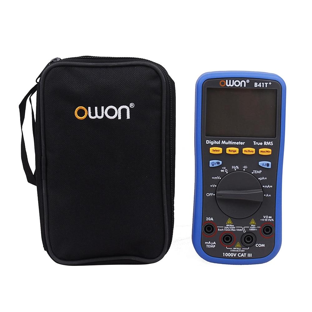 OWON B41T + 4 1/2 True RMS Multímetro Digital Com Bluetooth Backlight Medidor de Teste