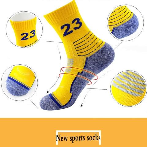 2019 NEW Outdoor Racing Cycling sock basketball socks Bicycle cotton football athletic Breathable Road bike sport socks men sale Multan