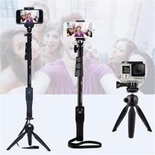 Yunteng 1288 селфи палочки ручной монопод + держатель телефона + Bluetooth затвора для Камера iPhone 4/4S/6 /6S/7 Gopro Hero 5/4/3 +