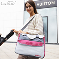 Fashion multi-function mummy bag from mother to child out bag worn one shoulder mother bag leisure bag
