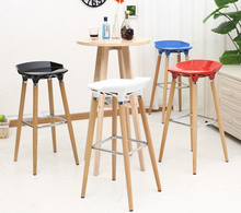 household stool home black green yellow plastic seat dining room chair warehouse computer stool free shipping