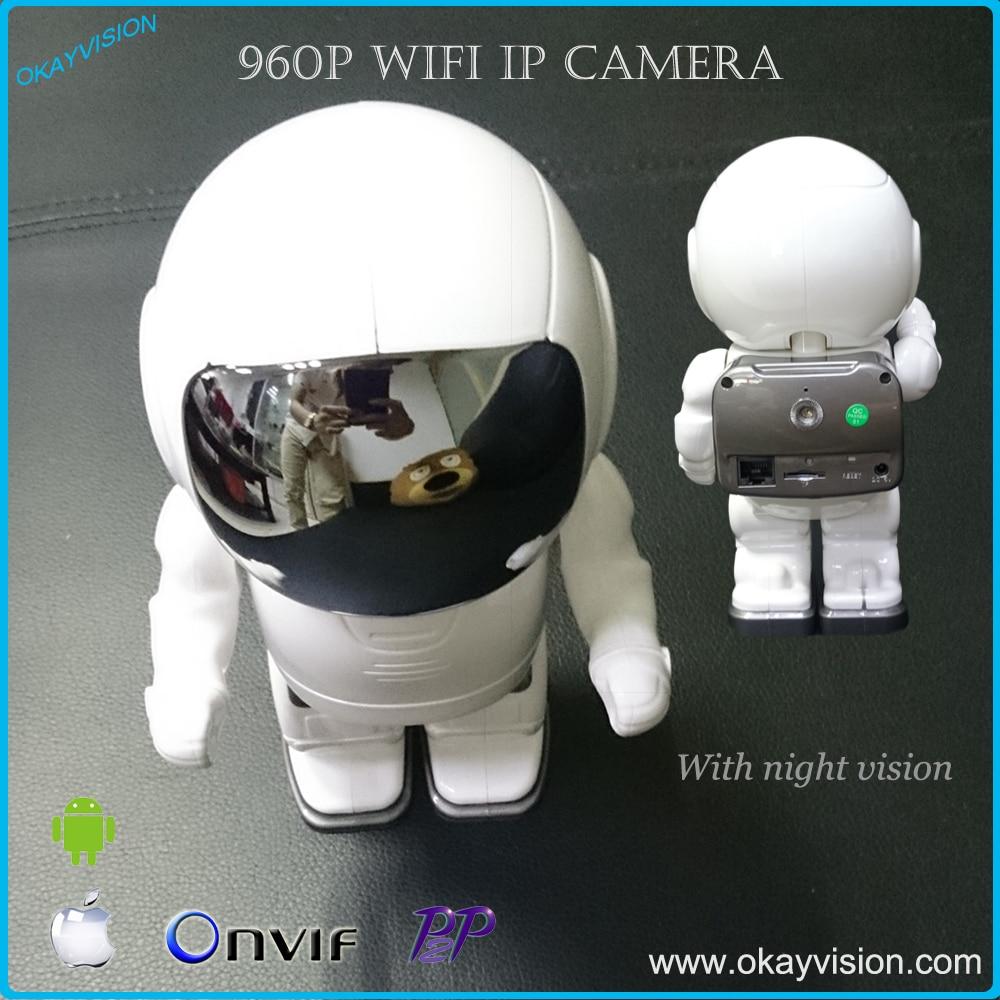 HD 960P Wireless Audio astronaut camera surveillance camera Wifi Micro SD camara Wireless p2p IP  PTZ Wifi Robot camara