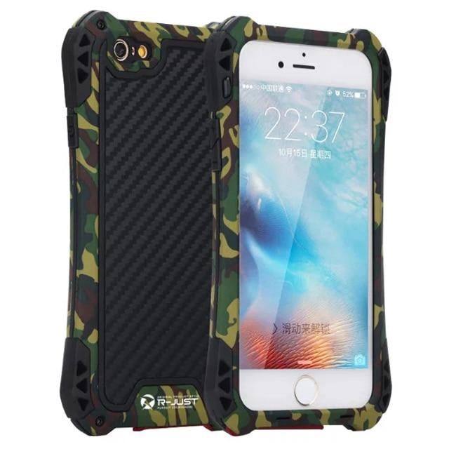 Цена за Ударопрочный Пыленепроницаемый Металлический Корпус Крышка Для iPhone SE 5 5S 6 6 S/Плюс Армии Камо Камуфляж Крышка Телефона С Закаленным Стеклом