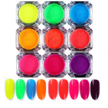 2G Nail Art Chrome Glitter Poeder Pailletten Fluorescerende Nail Pigment Dust Uv Gel Nagellak Diy Tips Decoraties(China)
