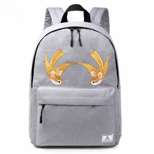2019 Fashion Men Women Canvas Backpacks School Bags for Teenagers Boys Girls Large Capacity Laptop Backpack Fashion Men Backpack