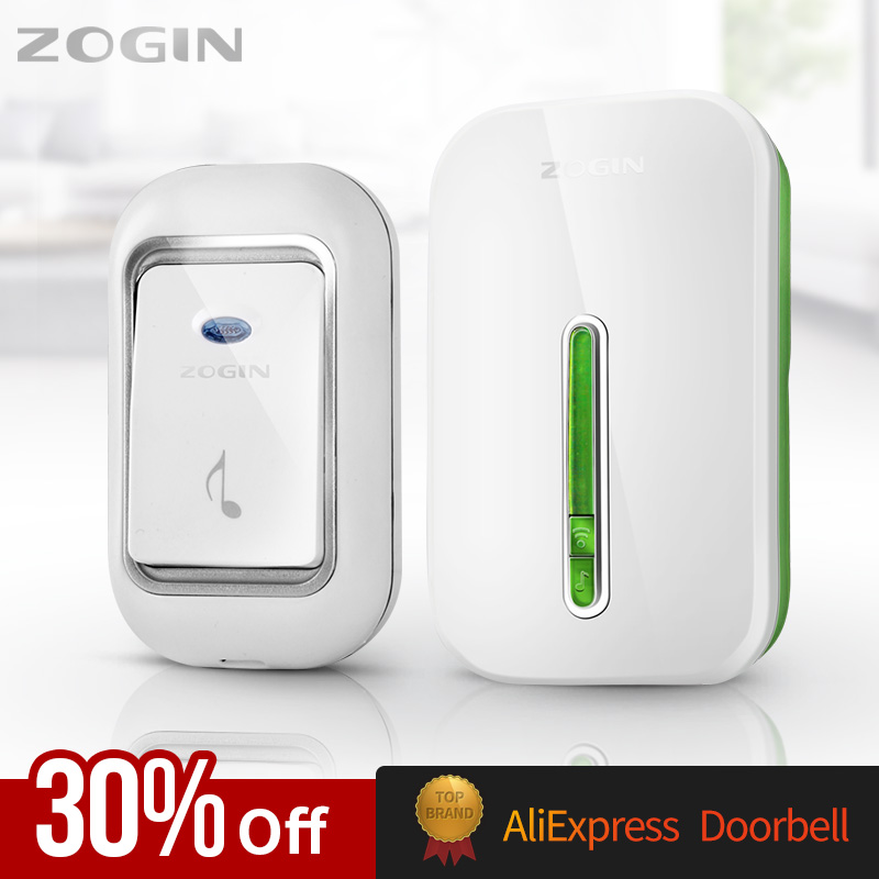 ZOGIN Wireless Doorbell Smart Door Bell Home Waterproof Cordless Ring Dong Chime House Call 220V Timbre Casa Calling Button