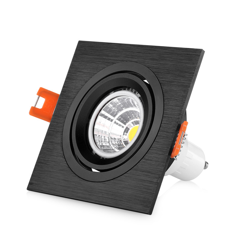 الألومنيوم الجولة قابل للتعديل 90 مللي متر قطر GU10/MR16 بقعة ضوء الإسكان LED إضاءة هابطة متراجع الإطار تركيبات للسقف لغرفة النوم