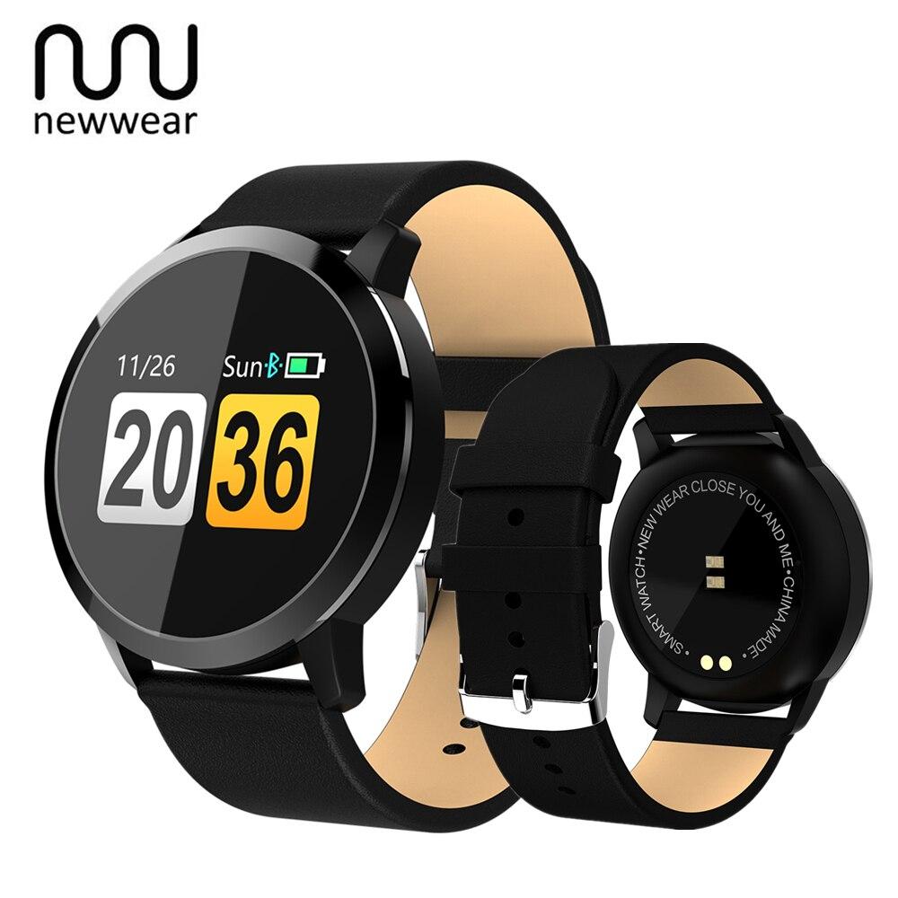 Newwear Q8 Touch Screen Intelligente Orologio Frequenza Cardiaca Smartwatch Donne Degli Uomini IP67 Impermeabile Sport Fitness Dispositivi Indossabili Elettronica