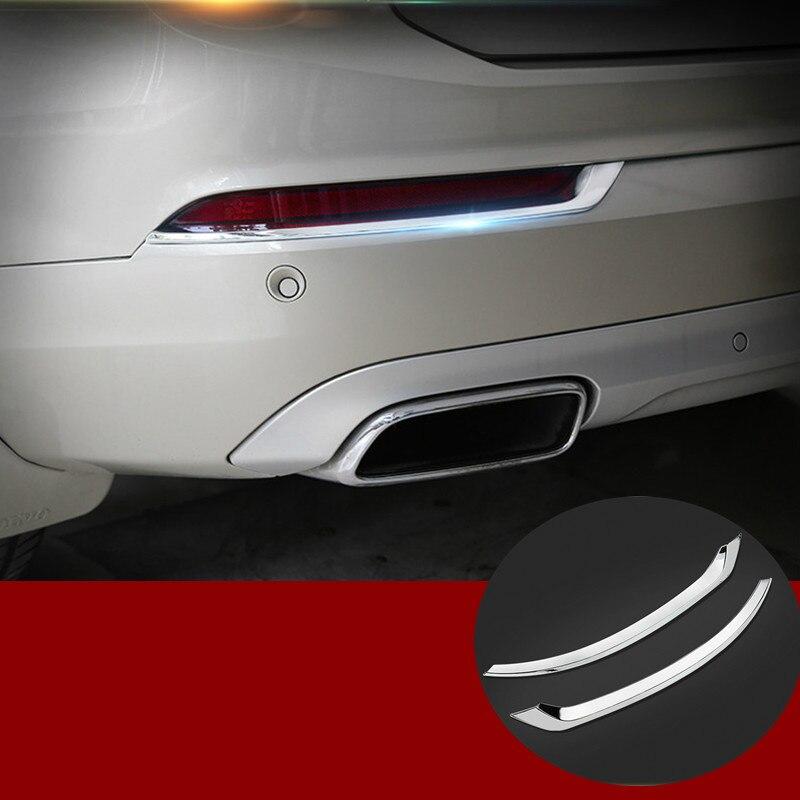 ABS Chrome Rear Tail Fog Light Lamp Cover Trim 2pcs For VOLVO XC90 2016 2017