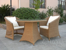 3 pcs Comfortable Fashion Rattan Garden Dining Sets For Commercial Hotel transport by sea