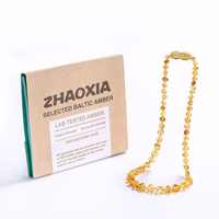 Baltic Amber Teething Necklace/Bracelet for Baby - Gift Box - 10 Colors - 5 Sizes - Lab Tested