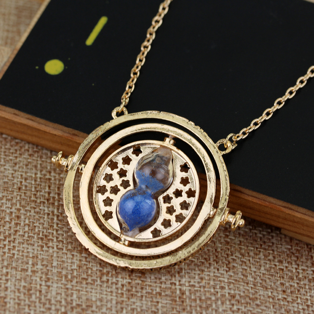 dongsheng HP Time Turner Necklace Hermione Granger Rotating Spins Hourglass Pendant Fashion Movie Jewelry For Women Men-30